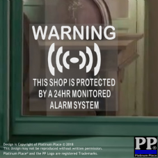 1 x Shop Protected By a 24hr Monitored Alarm System-Security-CCTV-Home-Premises-Business-Safety